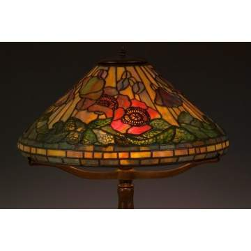 Fine Tiffany Studios Poppy Lamp