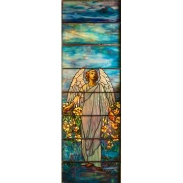 "Tiffany Studios Memorial Window ""Angel of Resurrection"""