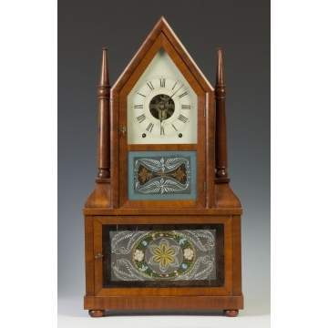 Fine Birge & Fuller, Retail by William Beals, CT, Double Candlestick Fusee Shelf Clock