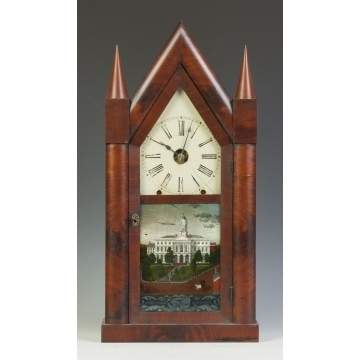 Chauncey Jerome Large Steeple Clock