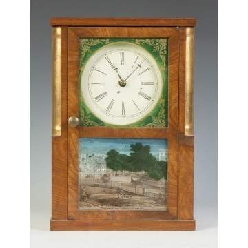 Miniature Shelf Clock, Sold by George Bowman, New Haven, Columbus, OH,