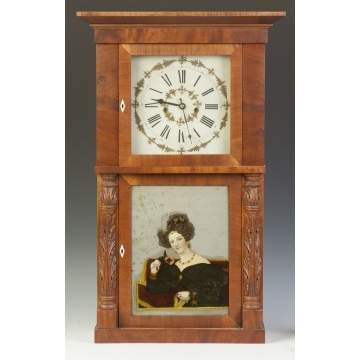 Marshall & Adams, Seneca Falls, NY,  Shelf Clock