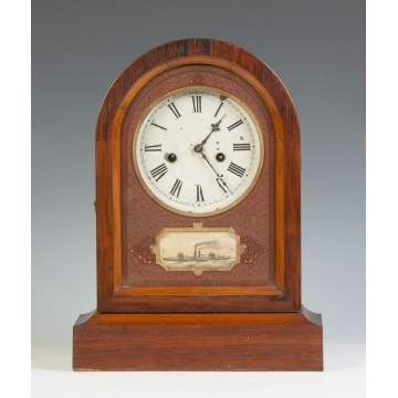 Jerome & Co. Round Top Shelf Clock