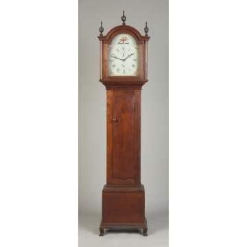 New England Cherry Country Chippendale Clock