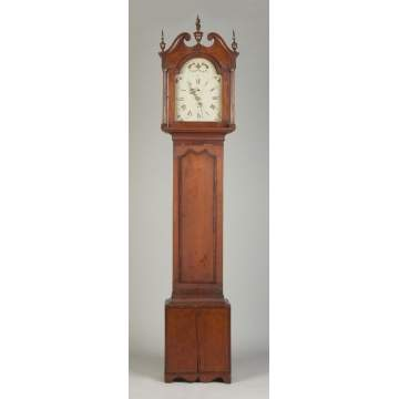 New England Cherry Tall Case Clock