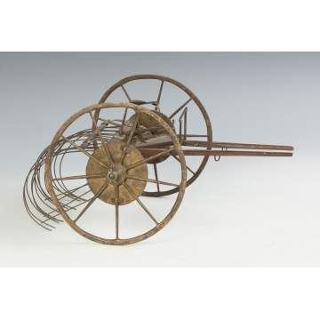 Metal & Wood Hay Rake Patent Model