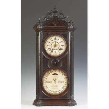 Ithaca Calendar Shelf Clock, Emerald #5