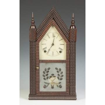 J.C. Brown Ripple Front Steeple Clock