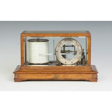Barograph with Glass Sides