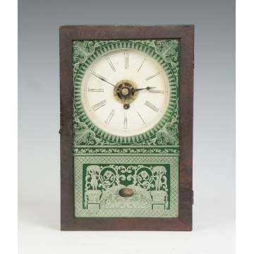 New England Clock Co. Cigar Box Clock with Alarm
