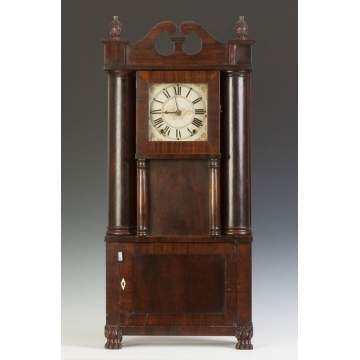 E. & G.W. Bartholomew Hollow Column Empire Shelf Clock