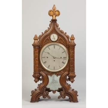 English Gothic Cathedral Shelf Clock