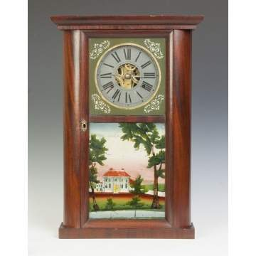 C & N Jerome Hollow Column Shelf Clock