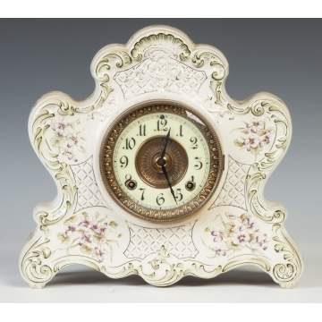 Ansonia China Shelf Clock