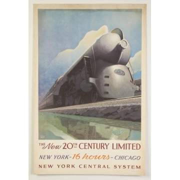 The New 20th Century Limited New York/Chicago 16 Hours, NY Central System