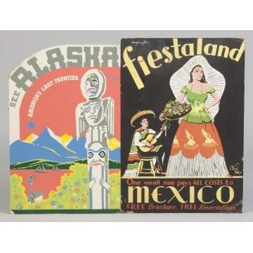 Alaska & Mexico Vintage Travel Posters