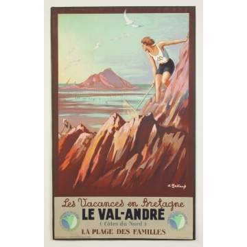 Le Val-Andre Vintage Travel Poster