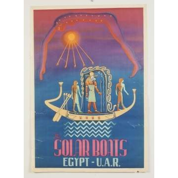 The Solar Boats - Egypt & U.A.R. Vintage Travel Poster