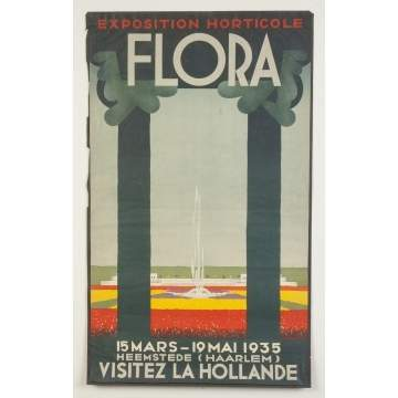 Exposition Horticole Flora Vintage Travel Poster
