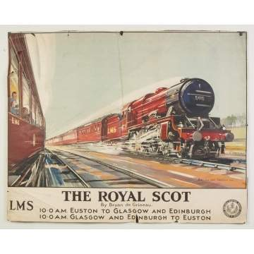 The Royal Scot Vintage Travel Poster