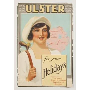 Ulster for your Holiday's Vintage Travel Poster