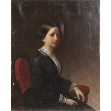 Portrait of a Young Lady in a Victorian Chair