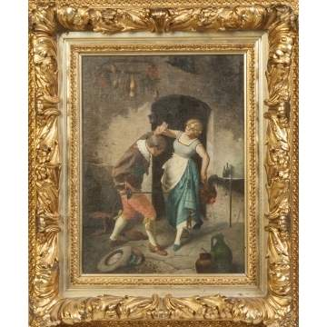 19th cent. Painting of a Dancing Couple