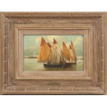 Anne Rogers Minor (American, 186-1947) Sailing boats
