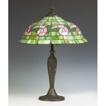 Williamson Arts & Crafts Design Leaded Glass Table Lamp