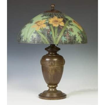 Handel Daffodil Lamp with Chipped Ice Shade