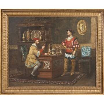 "Lawrence Duncan (English, f. 1860-1891) ""Pawn Broker"""