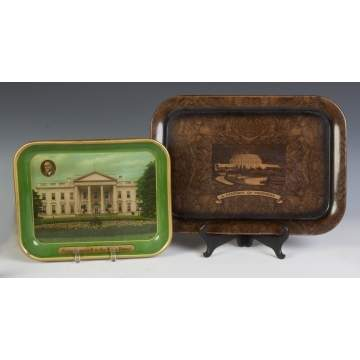 Two Vintage Presidential Trays