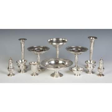 Group of Sterling Silver Weighted Table Articles