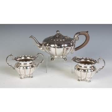 Roden Three Piece Sterling Silver Tea Set