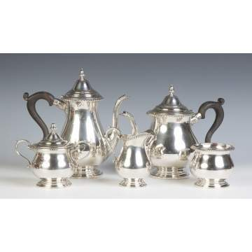 Graff, Washbourne & Dunn Sterling Silver 5-Piece Tea & Coffee Set
