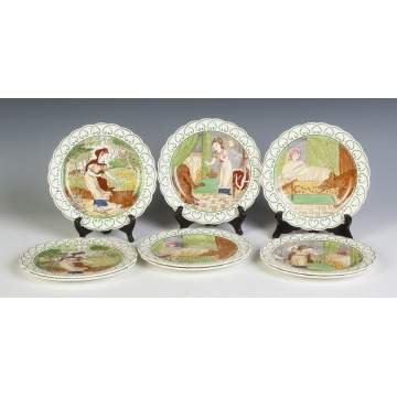 Nine Wedgewood Little Red Riding Hood Plates