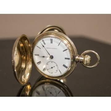American Watch Co. Gold Pocket Watch