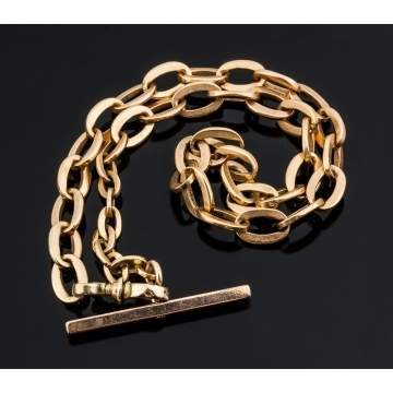 14K Gold Link Watch Fob