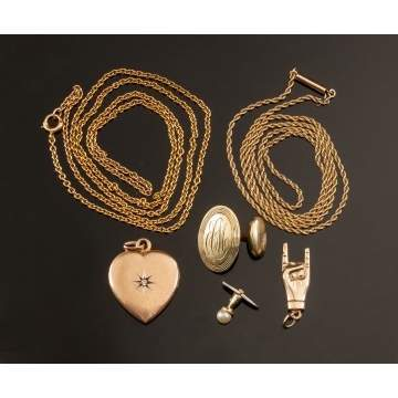 Gold Necklaces, Charms, Accessories