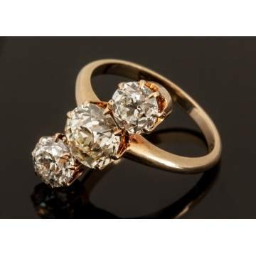 Ladies 14K Gold & Diamond Ring
