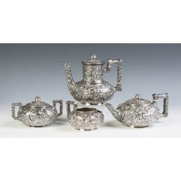 Dominick & Haff Four Piece Sterling Silver Tea & Coffee Set
