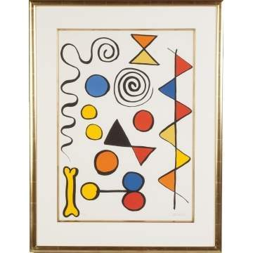 Alexander Calder  (American, 1898-1976) Composition with dog bone