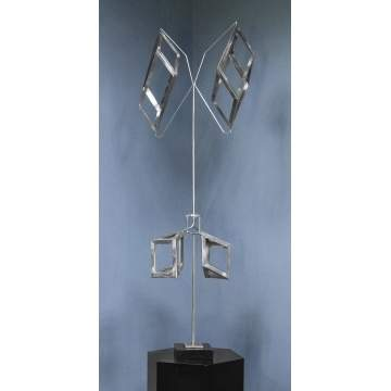 George Warren Rickey (American, 1907-2002) Aluminum & Stainless Steel Kinetic Sculpture