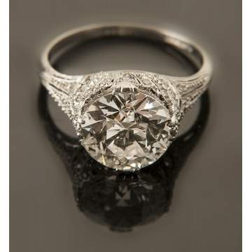 3.16 Carat Diamond & Platinum Ring
