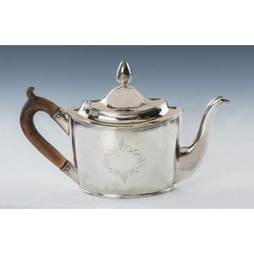 Peter, Ann & William Bateman (London, 1799-1805) Sterling Silver Teapot
