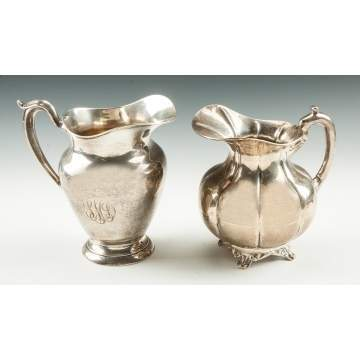 Two Sterling Silver Water Pitchers