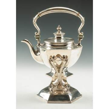 Galt & Bro. Inc. Sterling Silver Kettle on Stand