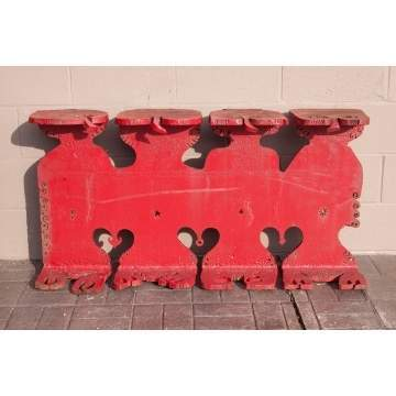 Albert Leon Wilson (Rochester, NY, 1920-1999) Pair of Cast Iron Stylized Owl Benches