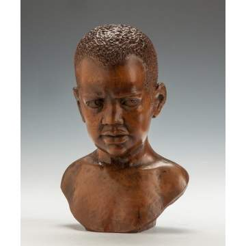 Edward Chesney (American, 1922-2008) Carved Hardwood Bust