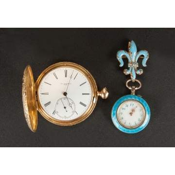 Two Enameled Watches